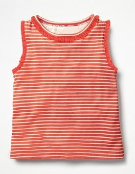 Ivory/Melon Crush Orange Pretty Tank Top