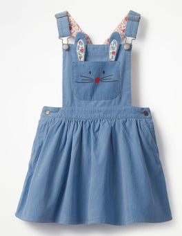 Penzance Blue Dungaree Pinafore Dress