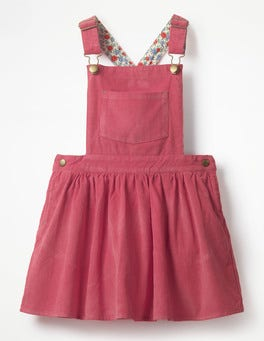 Rose Blossom Pink Dungaree Pinafore Dress