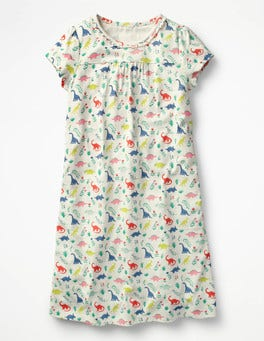 Ivory Dino Floral Printed Nightie