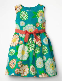 Ultramarine Green Daisy Vintage Dress