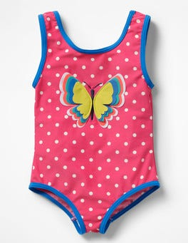 Pomegranate Pink Butterfly Fun Detail Swimsuit