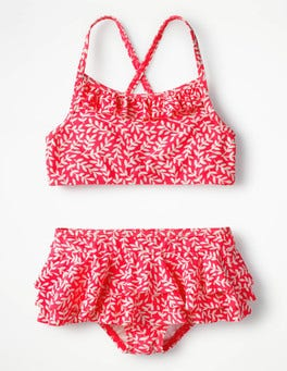 Fluoro Pink Vine Pretty Bikini Set