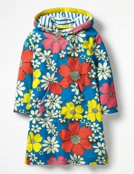 Blue Flower Power Towelling Beach Dress