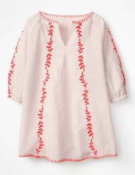 Pink Mist Embroidered Kaftan