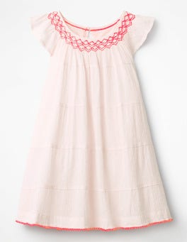 Pink Mist Twirly Smock Dress