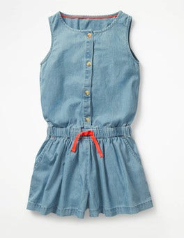 Chambray Denim Culotte Playsuit