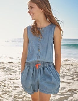 Denim Culotte Playsuit