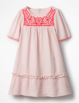 Pink Mist Embroidered Kaftan Dress