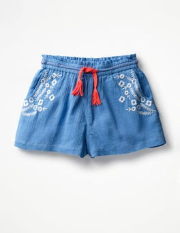 Embroidered Woven Shorts