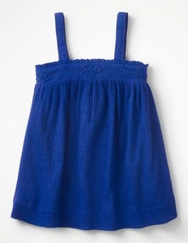 Orion Blue Floaty Strappy Top