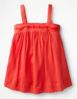 Melon Crush Orange Floaty Strappy Top