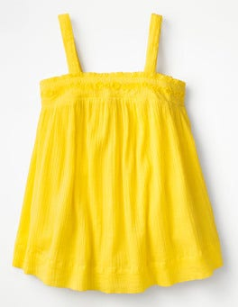 Sunshine Yellow Floaty Strappy Top