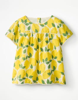 Ecru Lemon Tree Pretty Woven Top