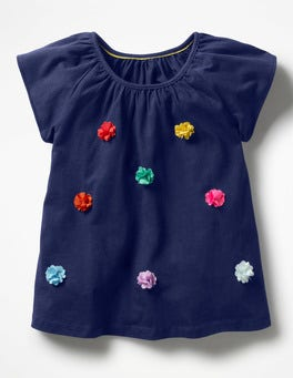 Starboard Blue Fluttery Flower Top
