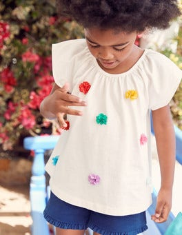 Fluttery Flower Top