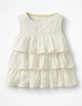 Ivory Pretty Ruffle Top