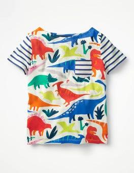 Ecru-Do-You-Think-She-Saurus Colourful Hotchpotch T-shirt