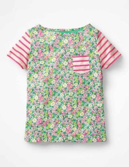 Ecru/Knockout Pink/Floral Colourful Hotchpotch T-shirt