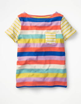 Candy Stripe Colourful Hotchpotch T-shirt