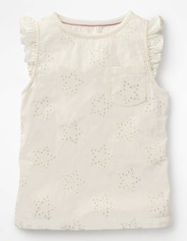 Ivory Broderie Star Top