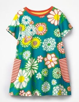 Ultramarine Green Daisy Colourful Printed Tunic