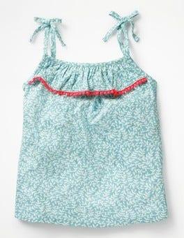 Camper Blue & Ecru Vine Pretty Printed Vest
