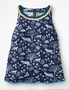 Starboard Blue Island Batik Printed Jersey Vest