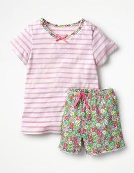 Rosebud Pink/Ivory/Floral Pretty Jersey Pyjamas