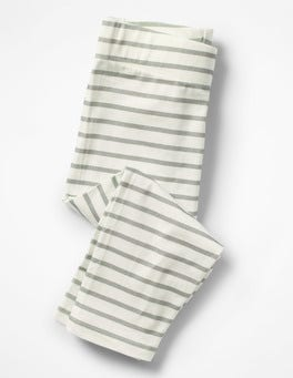 Ivory/Grey Marl Cropped Leggings