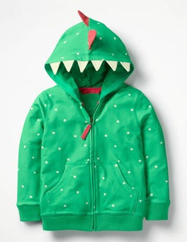 Peppermint Green Spot Dinosaur Animal Zip-up Hoodie
