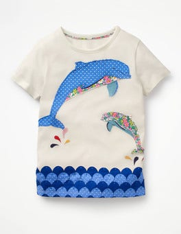 Ivory Dolphin Fun Animal T-shirt
