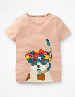 Provence Dusty Pink Sprout Fun Animal T-shirt