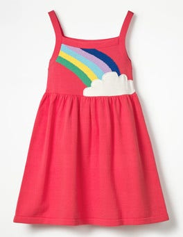 Raspberry Whip Rainbow Happy Days Knitted Dress
