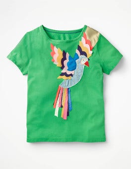 Peppermint Green Parrot Tropical Animal T-shirt