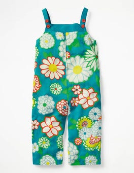 Ultramarine Green Daisy Culotte Playsuit