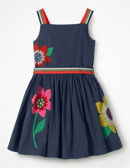 Bright Appliqué Dress