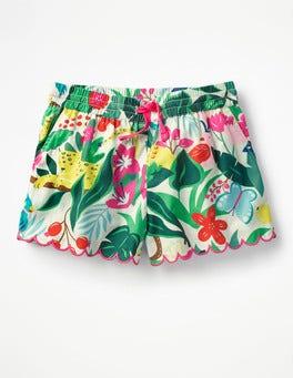 Ecru Jungle Jumble Printed Woven Shorts