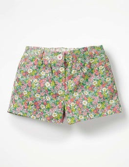 Knockout Pink Vintage Floral Bright Adventure Shorts