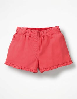 Strawberry Split Pink Frill Detail Shorts