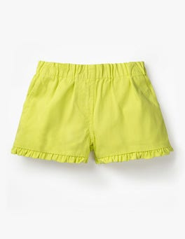 Zest Yellow Frill Detail Shorts