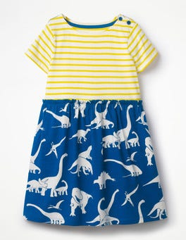 Orion Blue Roarsome Friends Bright Hotchpotch Jersey Dress