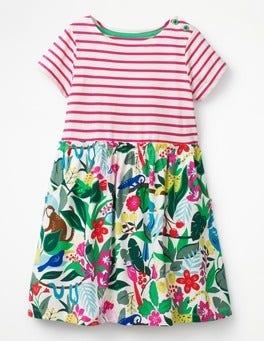 Ecru Jungle Jumble Bright Hotchpotch Jersey Dress