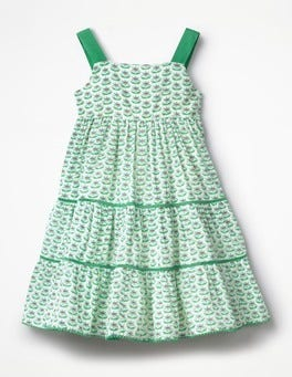 Peppermint Green Twirly Tiered Dress