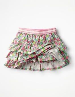 Knockout Pink Vintage Floral Ruffle Skort
