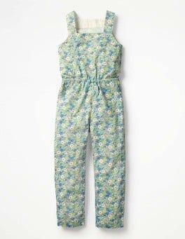 Camper Blue Vintage Floral Woven Jumpsuit