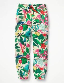 Ecru Jungle Jumble Relaxed Woven Trousers