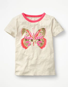 Ivory/Butterfly Fun Detail T-shirt