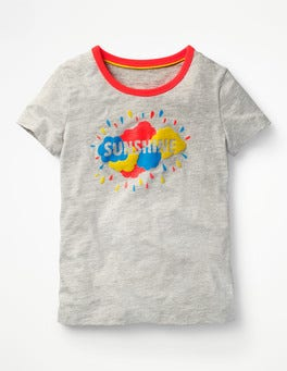 Grey Marl/Sunshine Fun Detail T-shirt