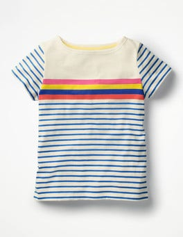 Rainbow Stripe Fun Breton T-shirt